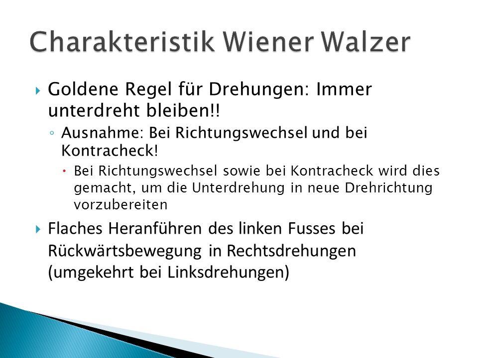 Goldene Regel für Drehungen: Immer unterdreht bleiben!.
