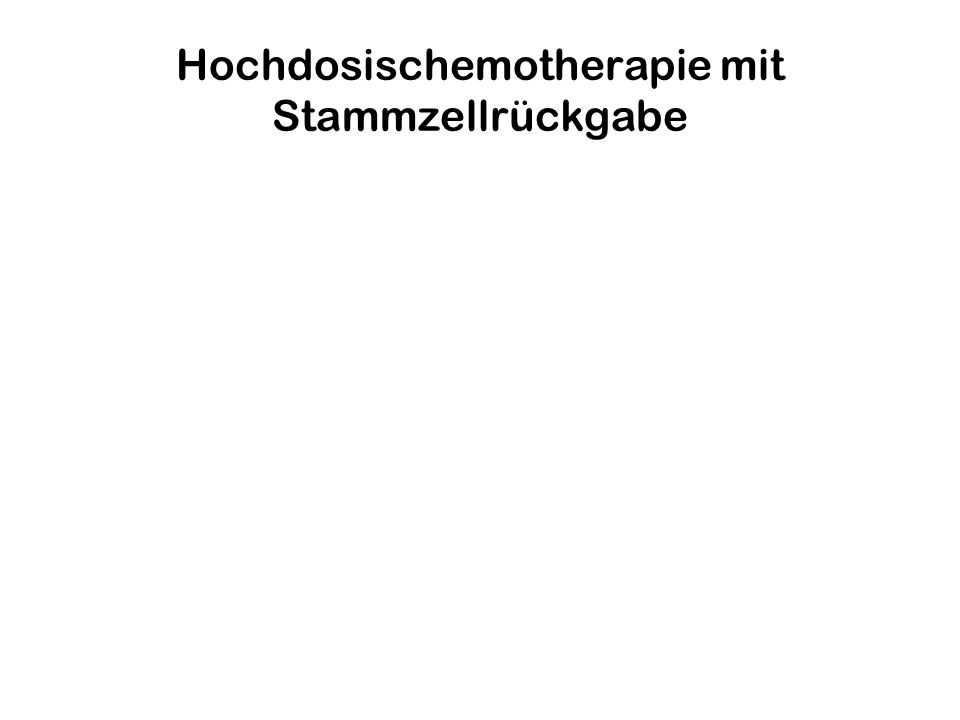 Hochdosischemotherapie mit Stammzellrückgabe