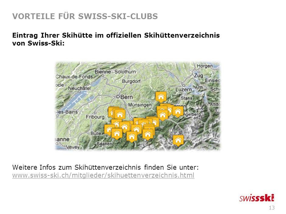 12 VORTEILE FÜR SWISS-SKI-CLUBS Veranstalter-Haftpflichtversicherung (Allianz) bei Sportanlässen welche im offiziellen Veranstaltungskalender eingetra