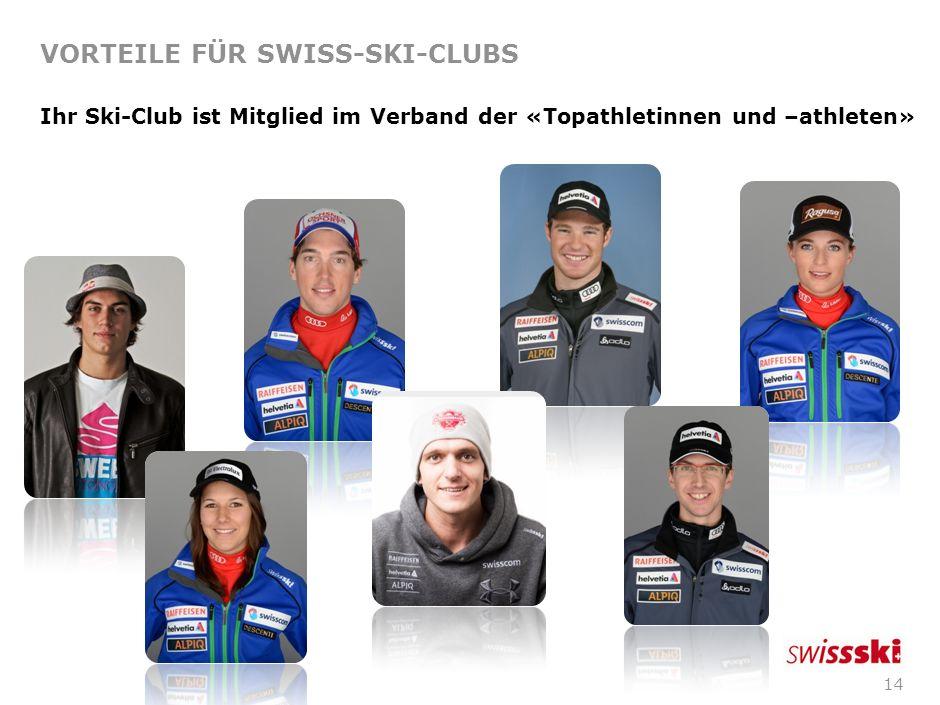 13 VORTEILE FÜR SWISS-SKI-CLUBS Eintrag Ihrer Skihütte im offiziellen Skihüttenverzeichnis von Swiss-Ski: Weitere Infos zum Skihüttenverzeichnis finde