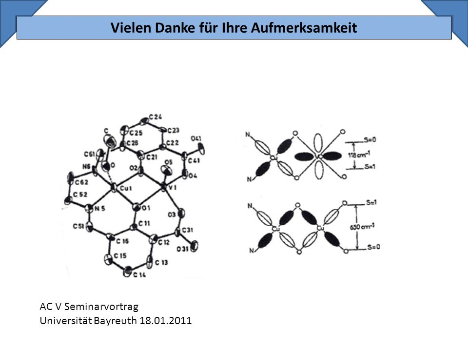 Vielen Danke für Ihre Aufmerksamkeit AC V Seminarvortrag Universität Bayreuth 18.01.2011