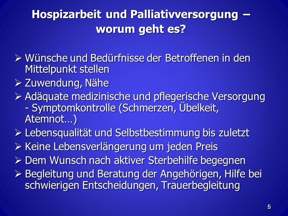 5 Hospizarbeit und Palliativversorgung – worum geht es.