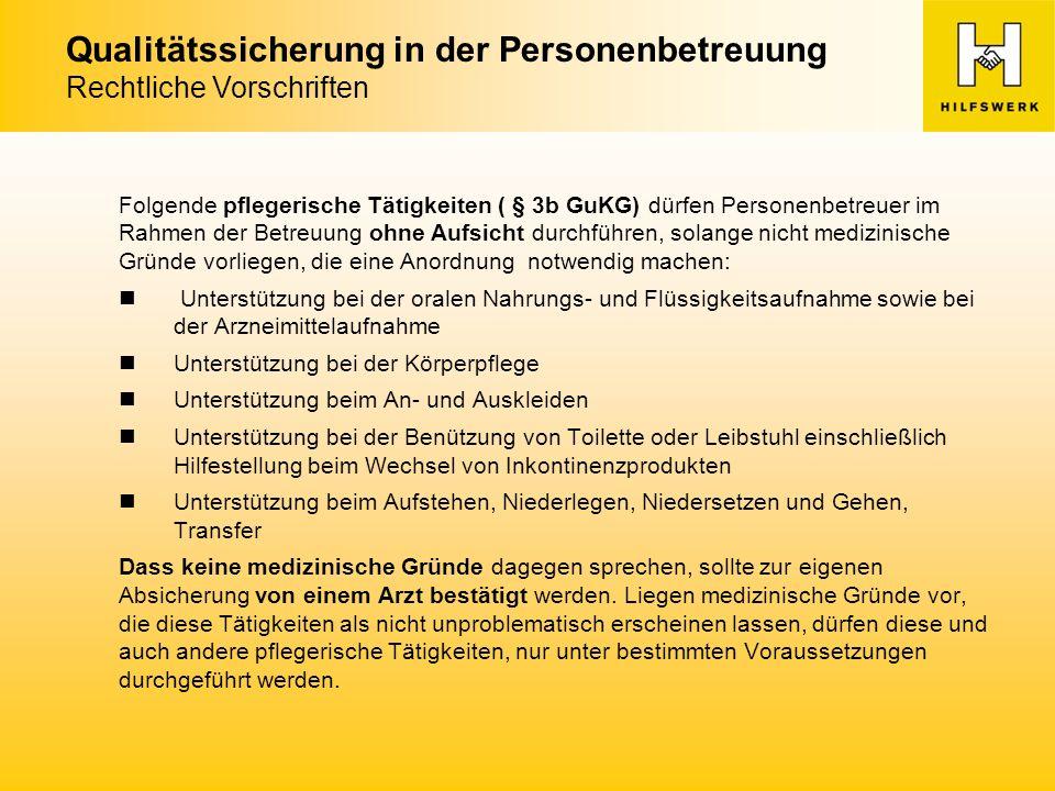 Qualitätssicherung in der Personenbetreuung Herausforderungen und Probleme Sprachkenntnisse (durch Kundenidiome verstärkt) Kulturelle Unterschiede (z.B.