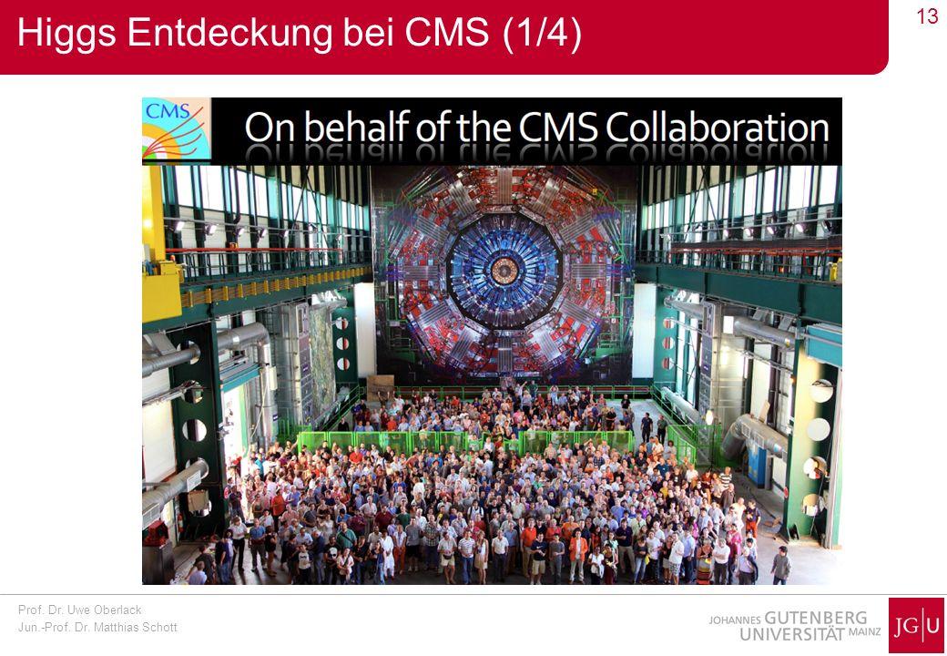 Prof. Dr. Uwe Oberlack Jun.-Prof. Dr. Matthias Schott 13 Higgs Entdeckung bei CMS (1/4)