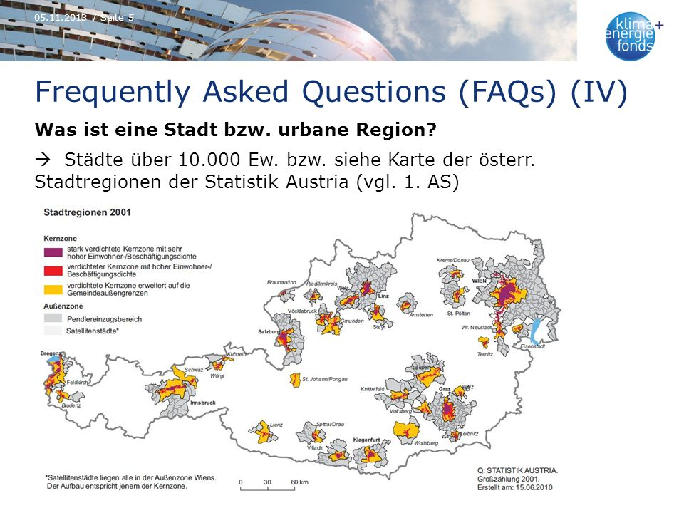 Frequently Asked Questions (FAQs) (IV) Was ist eine Stadt bzw.