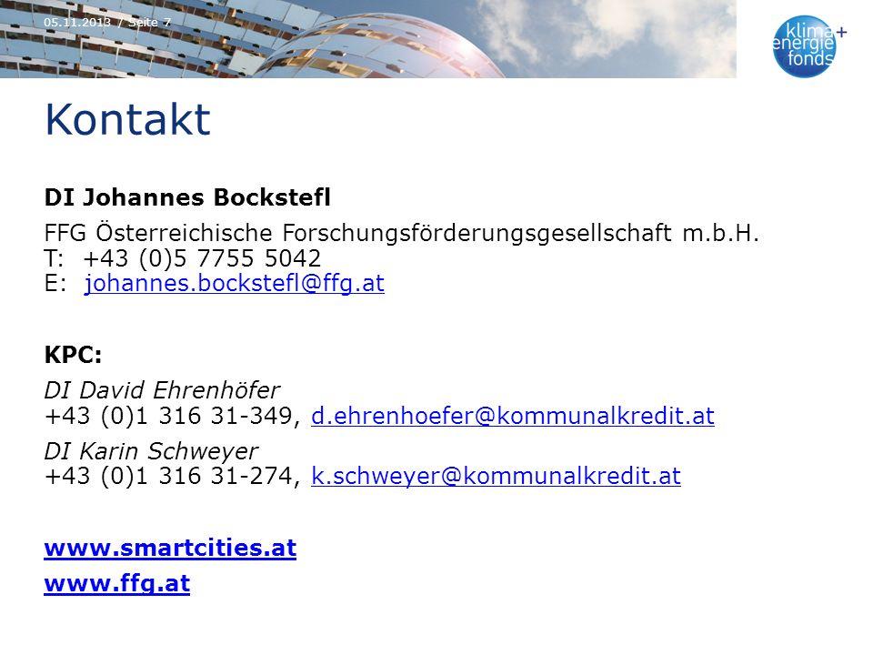 Kontakt DI Johannes Bockstefl FFG Österreichische Forschungsförderungsgesellschaft m.b.H. T: +43 (0)5 7755 5042 E: johannes.bockstefl@ffg.atjohannes.b