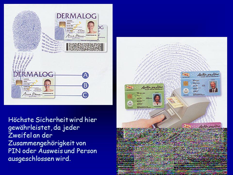 Das Fingerprint Terminal ist mit einem Sensor und einem Speicher für die biometrischen Referenzdaten ausgestattet.