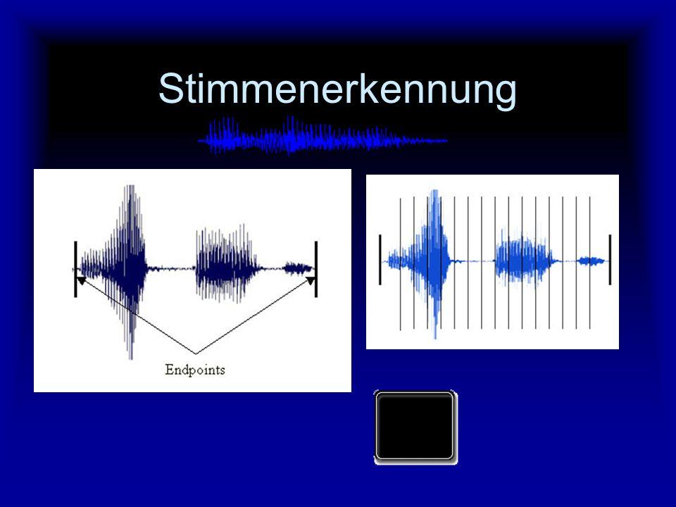 Stimmenerkennung Der Anwender spricht seinen Namen oder ein Kennwort in ein Mikrofon.
