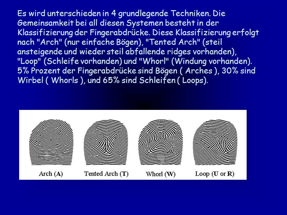 Fingerabdruckerkennung Fingerabdruckerkennung ist inzwischen am weitesten verbreitet.