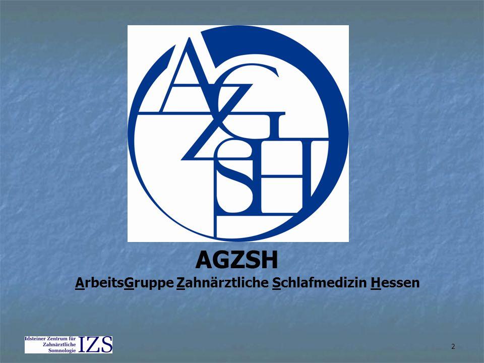 2 AGZSH ArbeitsGruppe Zahnärztliche Schlafmedizin Hessen