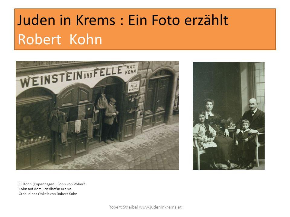 Juden in Krems : Ein Foto erzählt Robert Kohn Eli Kohn (Kopenhagen), Sohn von Robert Kohn auf dem Friedhof in Krems.