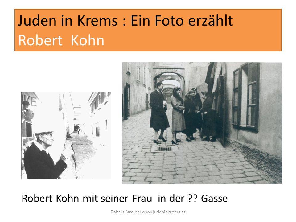 Juden in Krems : Ein Foto erzählt Robert Kohn Robert Kohn mit seiner Frau in der .