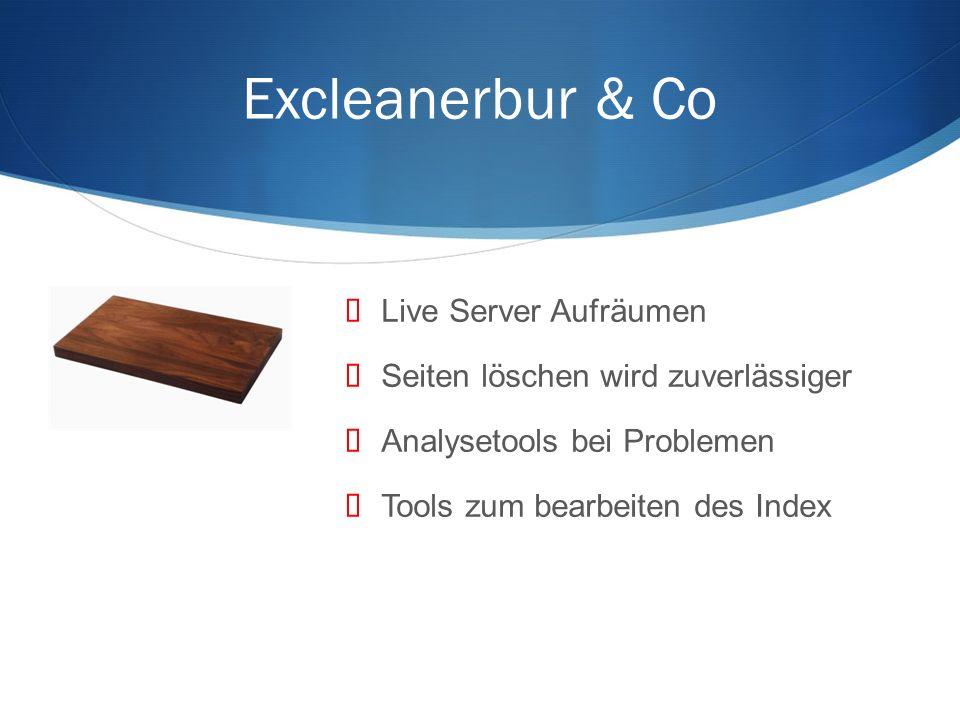 Excleanerbur & Co Live Server Aufräumen Seiten löschen wird zuverlässiger Analysetools bei Problemen Tools zum bearbeiten des Index
