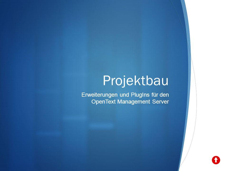 Projektbau Erweiterungen und PlugIns für den OpenText Management Server