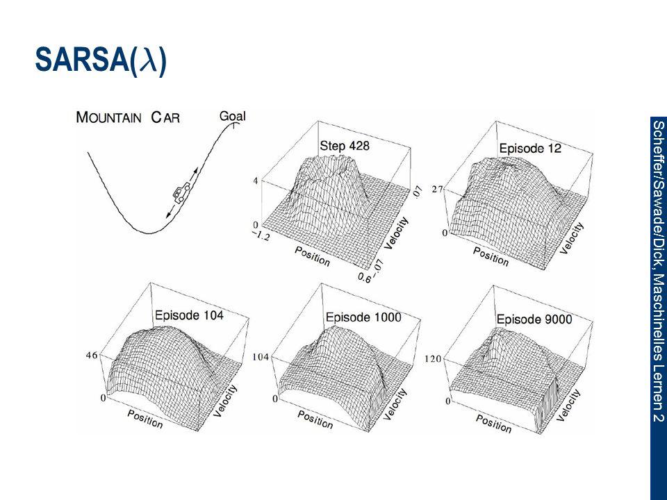 Scheffer/Sawade/Dick, Maschinelles Lernen 2 SARSA( ¸ )
