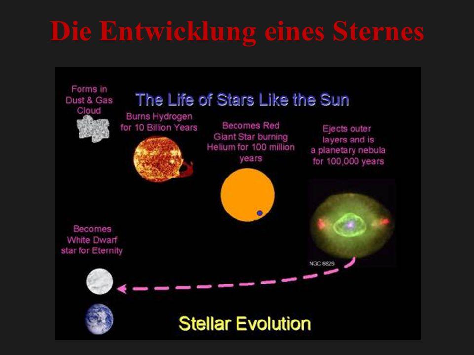 Die Entwicklung eines Sternes
