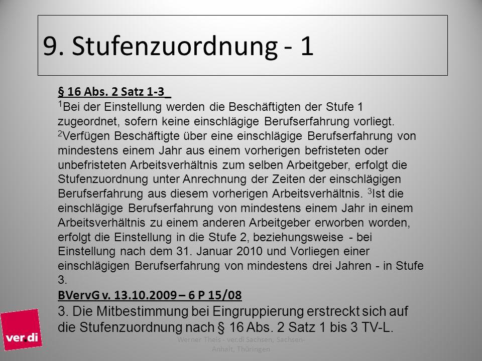 9.Stufenzuordnung - 1 § 16 Abs.