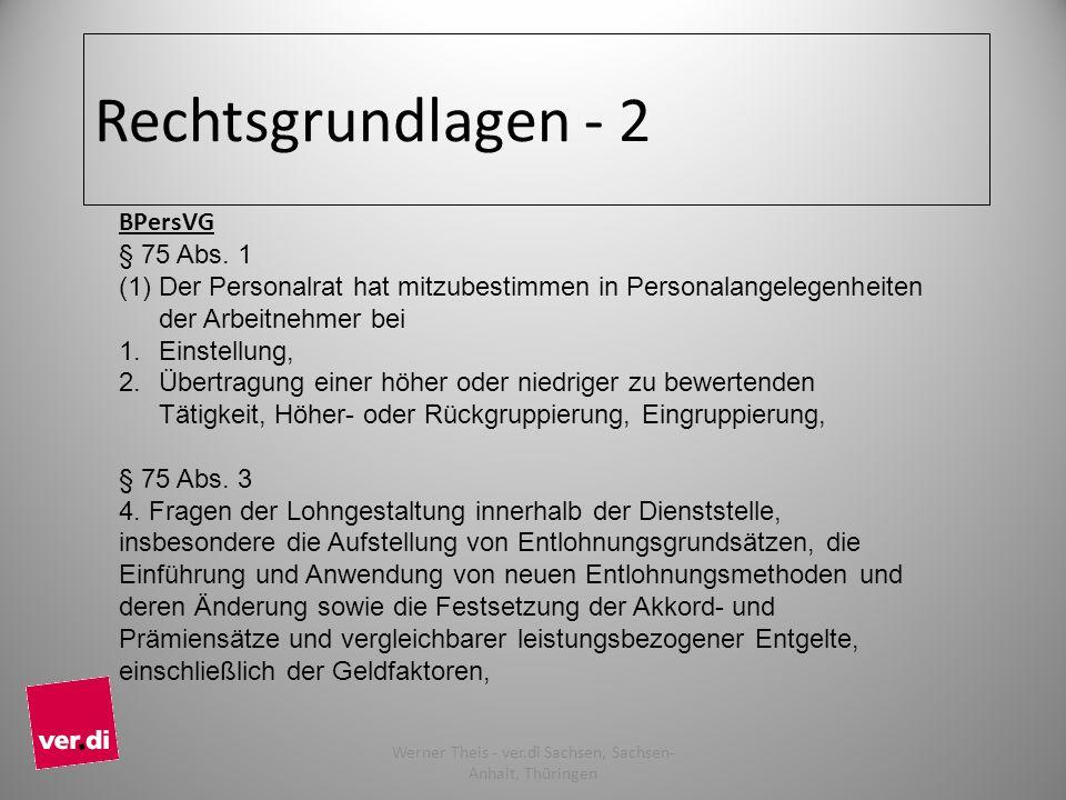 Rechtsgrundlagen - 2 BPersVG § 75 Abs.
