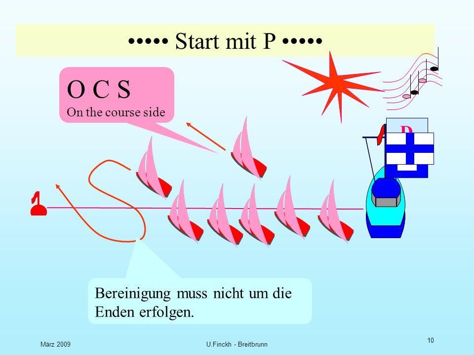 März 2009U.Finckh - Breitbrunn 9 D N S Did not start Nichtstarter Startvorgang D Frühstarte r Korrekte Starter O C S On the course side