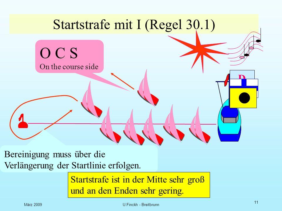März 2009U.Finckh - Breitbrunn 10 Start mit P D O C S On the course side Bereinigung muss nicht um die Enden erfolgen.