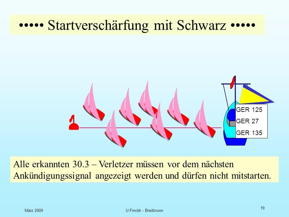 März 2009U.Finckh - Breitbrunn 18 D Startverschärfung mit Schwarz Erkannter Frühstarte r B F D Black flag disqualification Frühstarte r unerkannt Glück gehabt