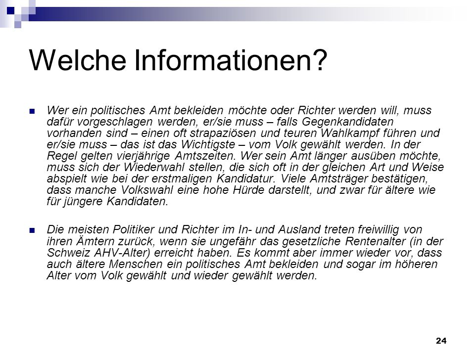 24 Welche Informationen.