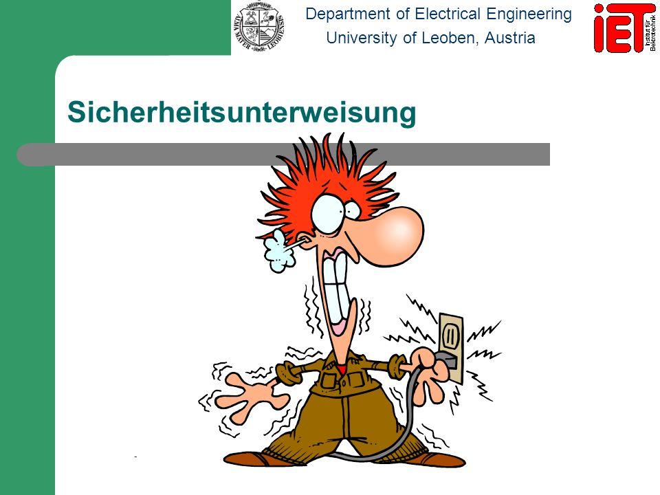 Department of Electrical Engineering University of Leoben, Austria Was wir vermeiden wollen!
