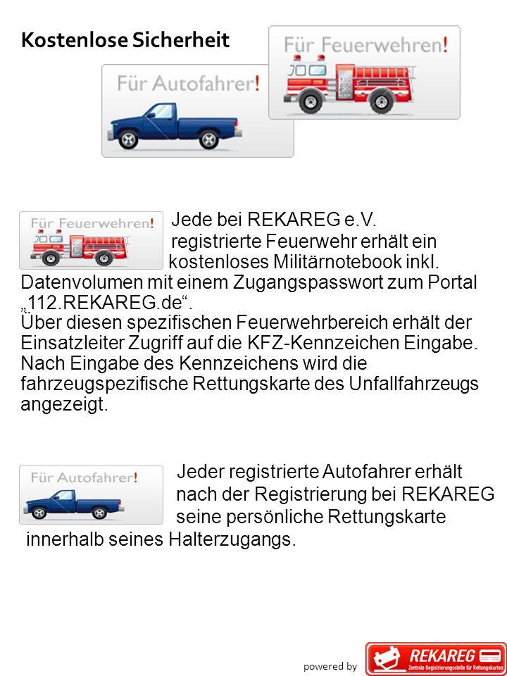 Kostenlose Sicherheit Jede bei REKAREG e.V. registrierte Feuerwehr erhält ein kostenloses Militärnotebook inkl. Datenvolumen mit einem Zugangspasswort