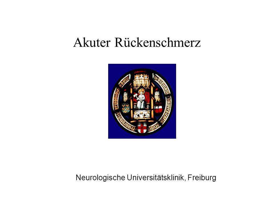 Akuter Rückenschmerz Neurologische Universitätsklinik, Freiburg