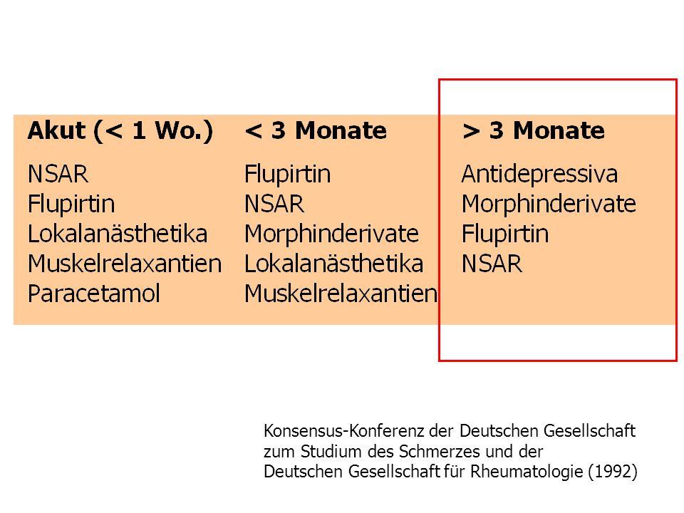 Was wann? Konsensus-Konferenz der Deutschen Gesellschaft zum Studium des Schmerzes und der Deutschen Gesellschaft für Rheumatologie (1992)