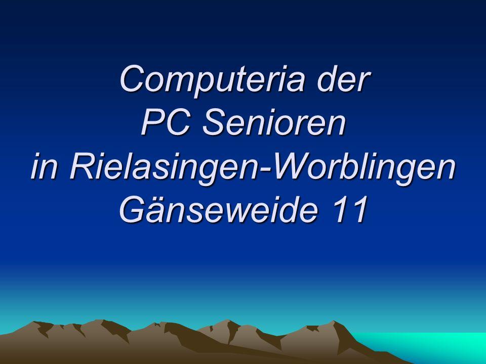 Computeria der PC Senioren in Rielasingen-Worblingen Gänseweide 11