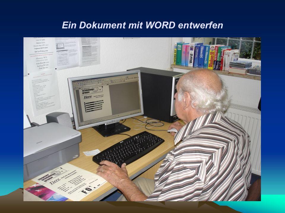 Ein Dokument mit WORD entwerfen