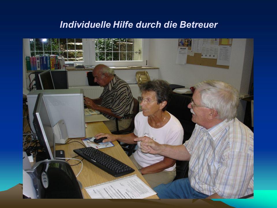 Individuelle Hilfe durch die Betreuer