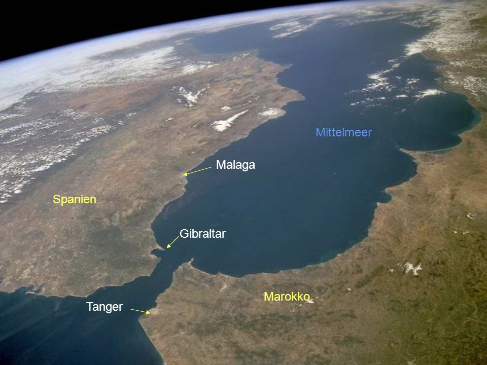 Gibraltar Tanger Marokko Spanien Malaga Mittelmeer