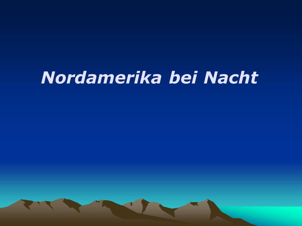 Nordamerika bei Nacht