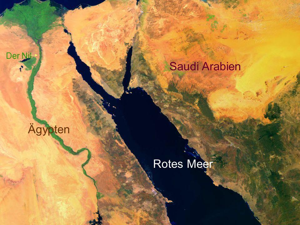 Der Nil Ägypten Rotes Meer Saudi Arabien