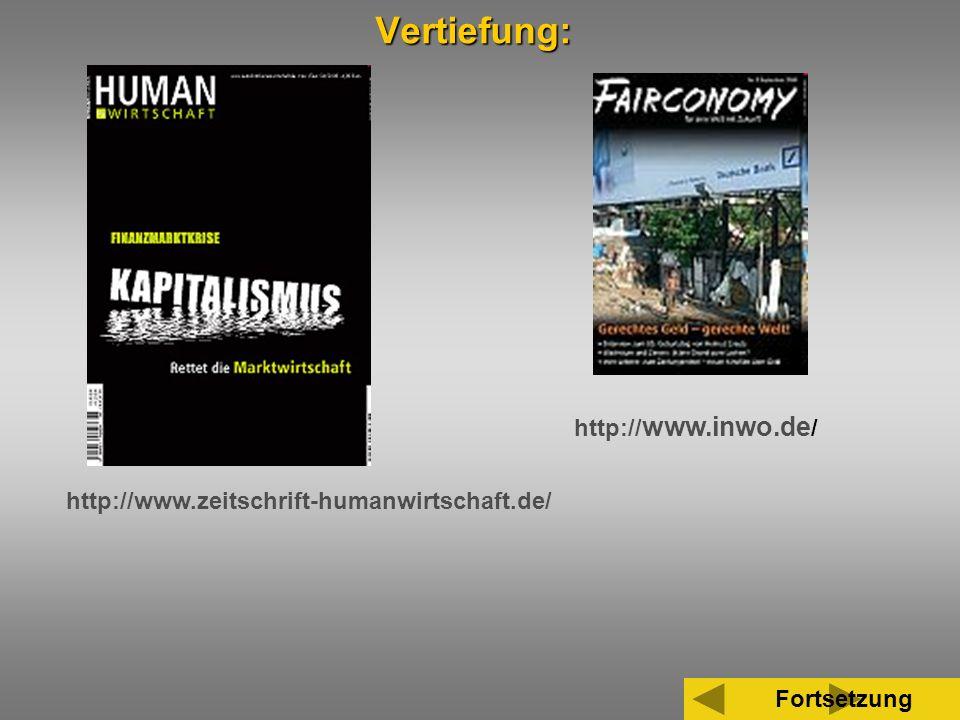 35 http:// www.inwo.de / http://www.zeitschrift-humanwirtschaft.de/ FortsetzungVertiefung:
