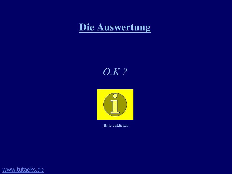 www.tutaeks.de Die Auswertung O.K ? Bitte anklicken