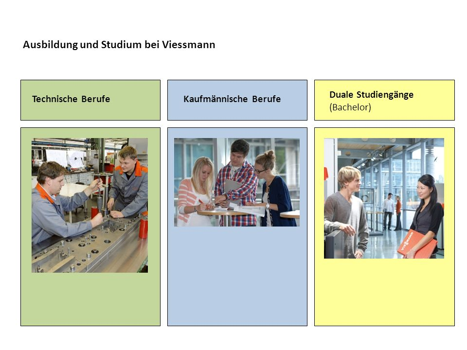 Technische Berufe Anlagenmechaniker/-in Sanitär-, Heizungs- und Klimatechnik Elektroniker/-in für Betriebs- technik Fertigungsmechaniker/-in Industriemechaniker/-in Maschinen- u.