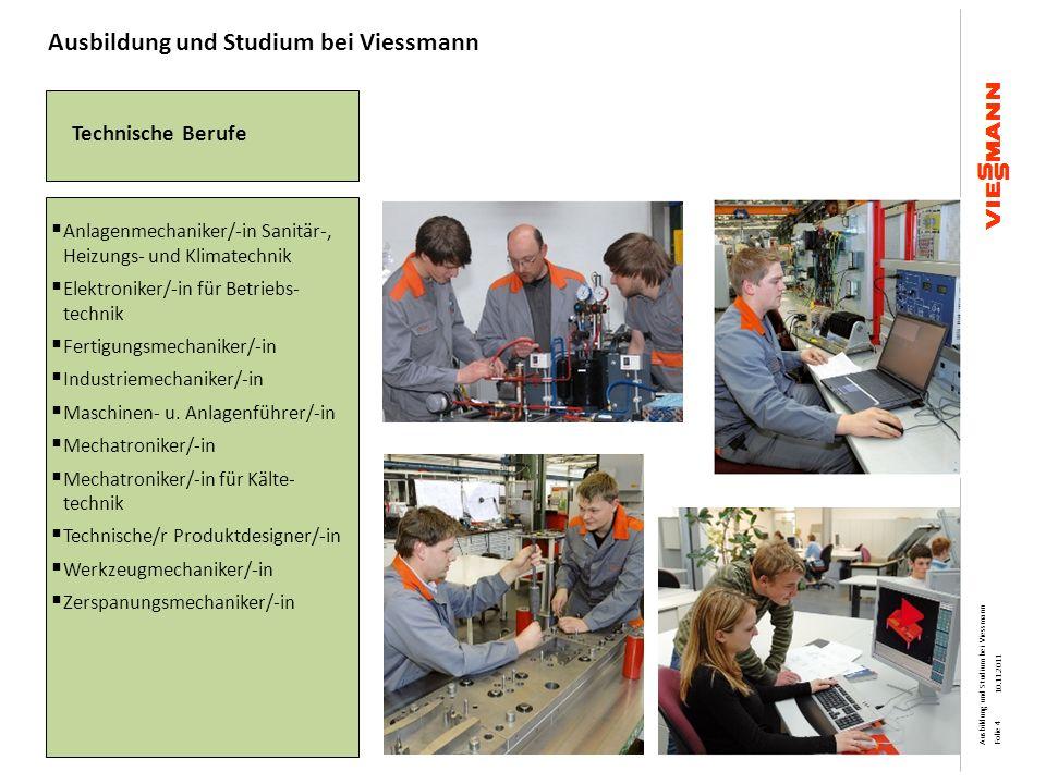 Technische Berufe Anlagenmechaniker/-in Sanitär-, Heizungs- und Klimatechnik Elektroniker/-in für Betriebs- technik Fertigungsmechaniker/-in Industrie