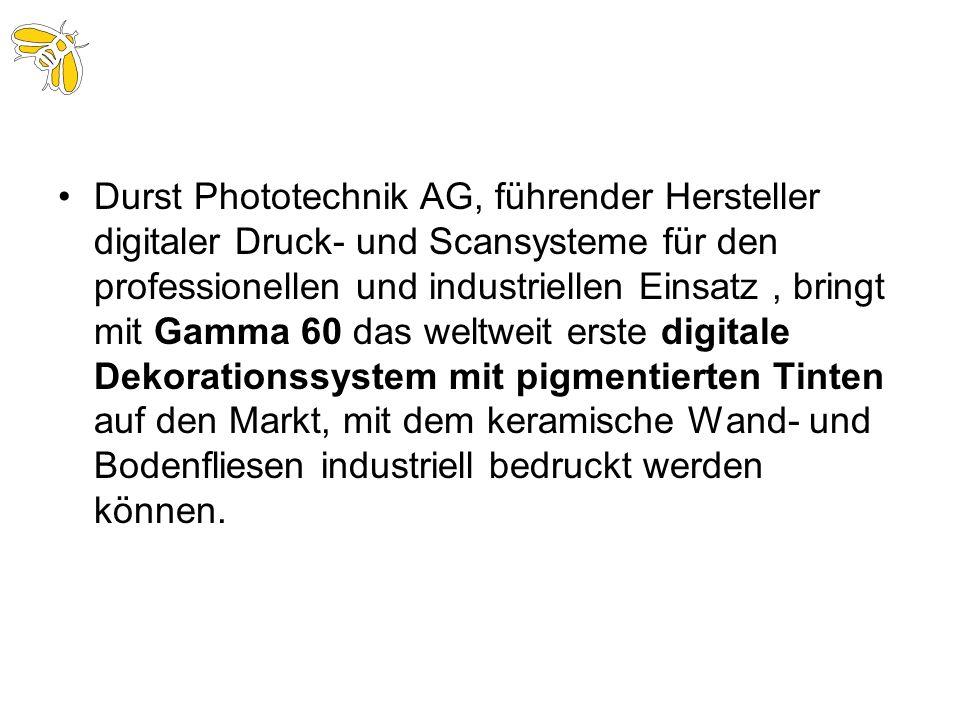 Durst Phototechnik AG, führender Hersteller digitaler Druck- und Scansysteme für den professionellen und industriellen Einsatz, bringt mit Gamma 60 da