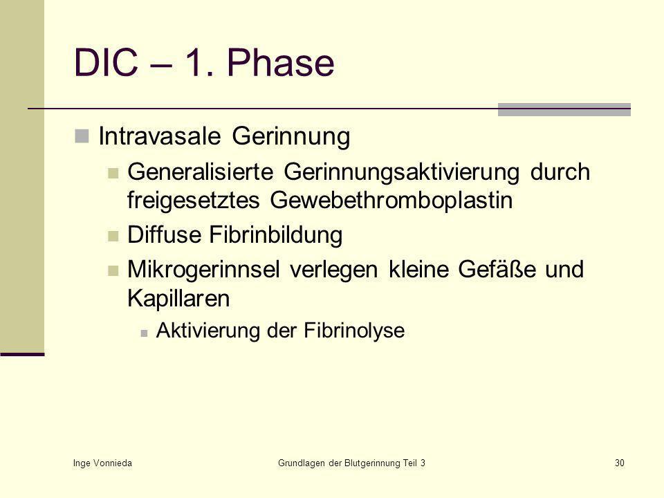 Inge Vonnieda Grundlagen der Blutgerinnung Teil 330 DIC – 1.