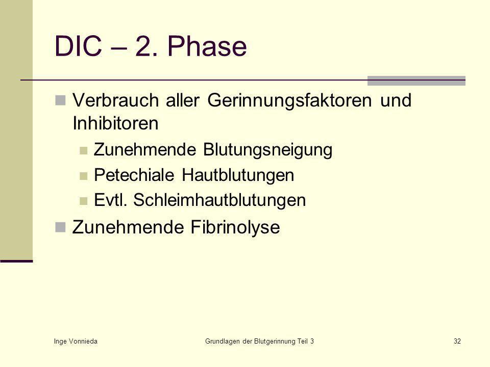 Inge Vonnieda Grundlagen der Blutgerinnung Teil 332 DIC – 2.
