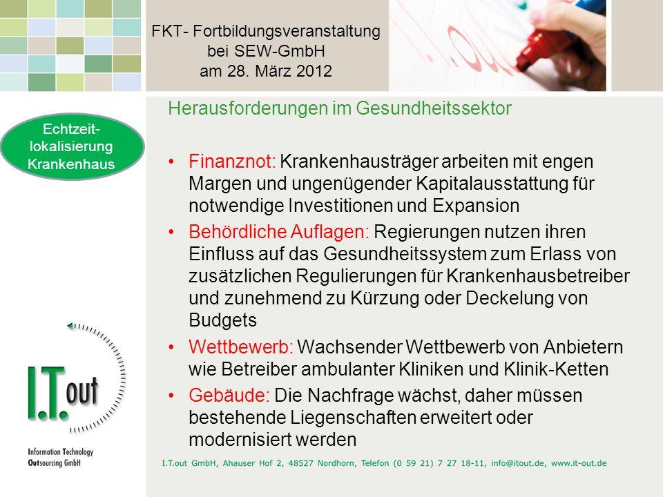 FKT- Fortbildungsveranstaltung bei SEW-GmbH am 28. März 2012 Herausforderungen im Gesundheitssektor Finanznot: Krankenhausträger arbeiten mit engen Ma