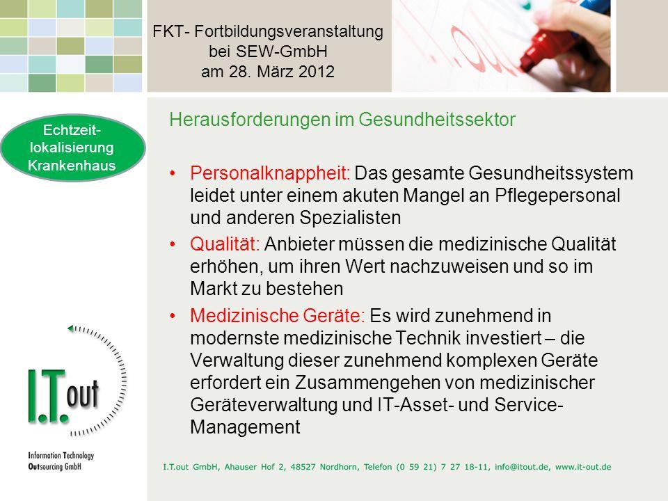 FKT- Fortbildungsveranstaltung bei SEW-GmbH am 28. März 2012 Herausforderungen im Gesundheitssektor Personalknappheit: Das gesamte Gesundheitssystem l