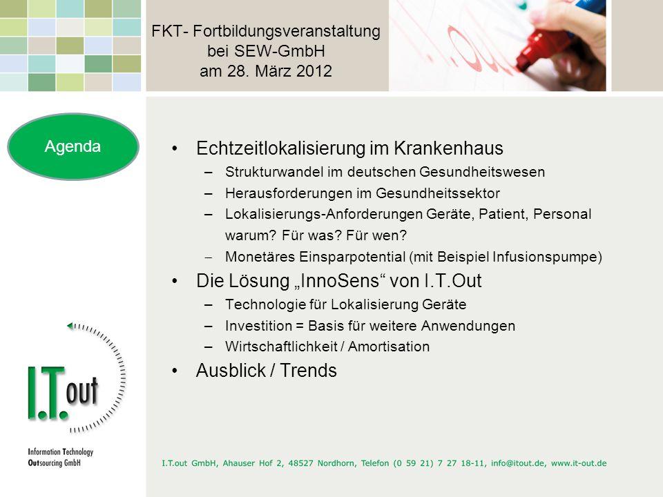FKT- Fortbildungsveranstaltung bei SEW-GmbH am 28. März 2012 Echtzeitlokalisierung im Krankenhaus –Strukturwandel im deutschen Gesundheitswesen –Herau