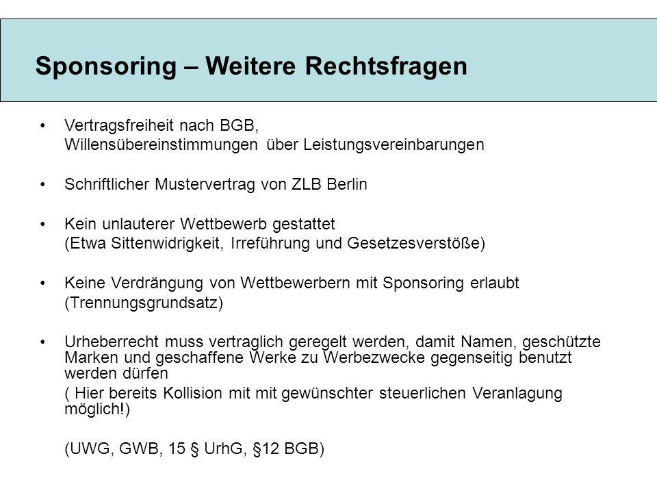 Vertragsfreiheit nach BGB, Willensübereinstimmungen über Leistungsvereinbarungen Schriftlicher Mustervertrag von ZLB Berlin Kein unlauterer Wettbewerb