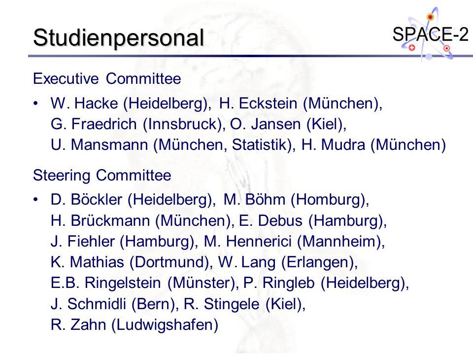 Studienpersonal Executive Committee W. Hacke (Heidelberg), H. Eckstein (München), G. Fraedrich (Innsbruck), O. Jansen (Kiel), U. Mansmann (München, St