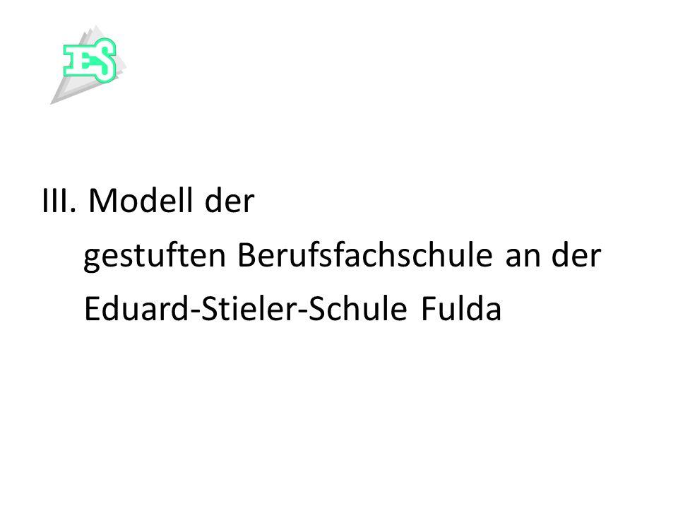 III. Modell der gestuften Berufsfachschule an der Eduard-Stieler-Schule Fulda