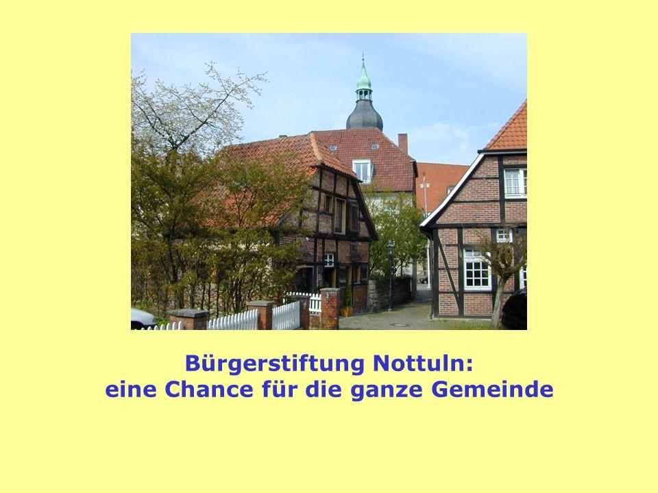 Bürgerstiftung Nottuln: eine Chance für die ganze Gemeinde